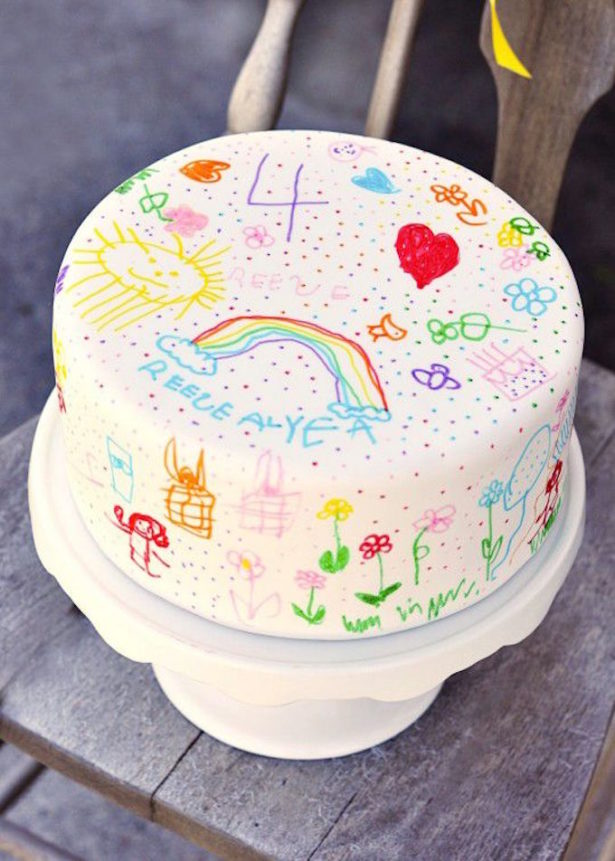 Art Doodle Cake