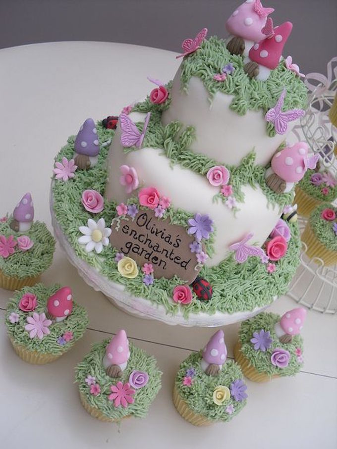 Enchanted Garden Fairy Cake