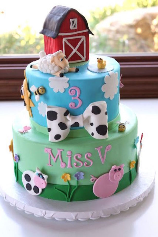 Farm Birthday Party Cake