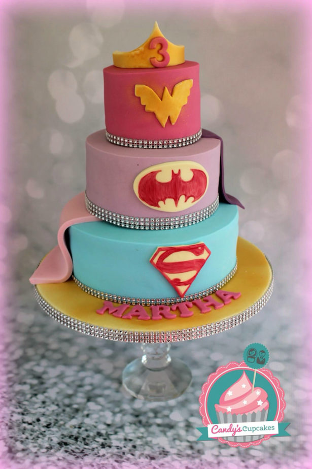 Girl Superhero Birthday Cake