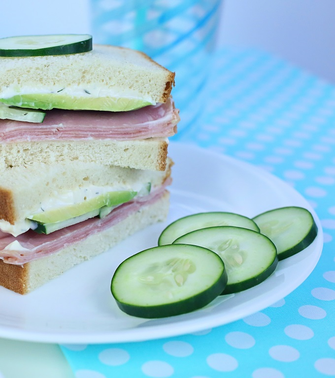 Avocado Cucumber Ham Sandwich | Kim Byers