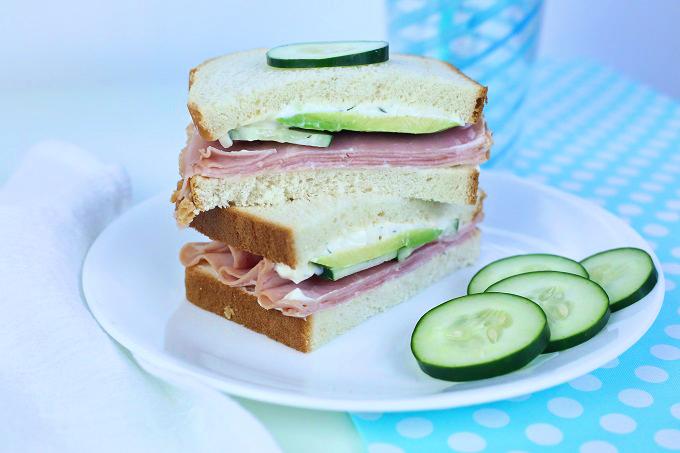 Avacado Cucumber Dill Mayo And Ham | Kim Byers