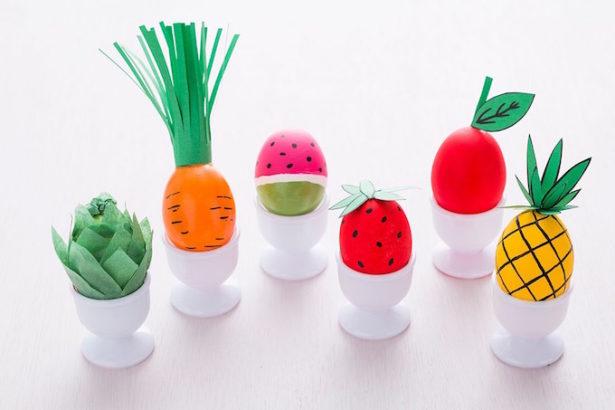 Best Easter Egg Decorating Ideas Fruit & Veg Eggs
