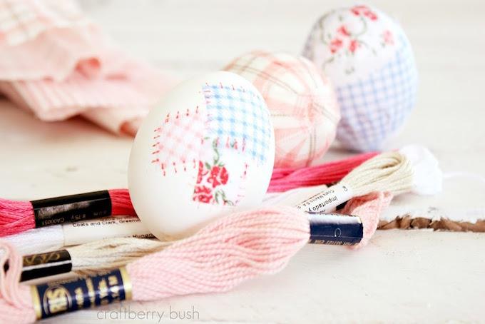 Best Easter Egg Decorating Ideas Fabric Eggs | Craftberry Bush