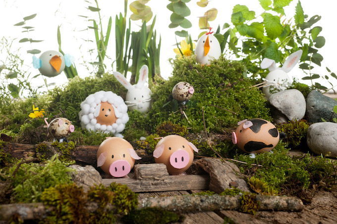 Best Easter Egg Decorating Ideas Farm Animals | Look What I Made