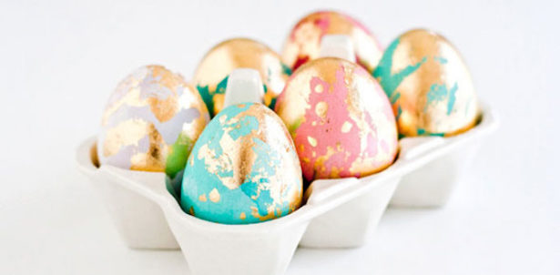 Best Easter Egg Decorating Ideas Golden Marbled Eggs Craftuts
