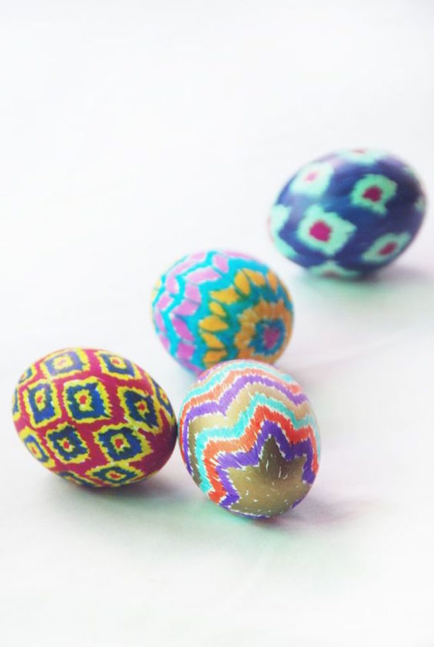Best Easter Egg Decorating Ideas Ikat Eggs