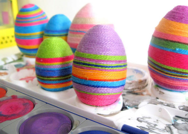 Best Easter Egg Decorating Ideas Thread Wrapped Eggs Handimania