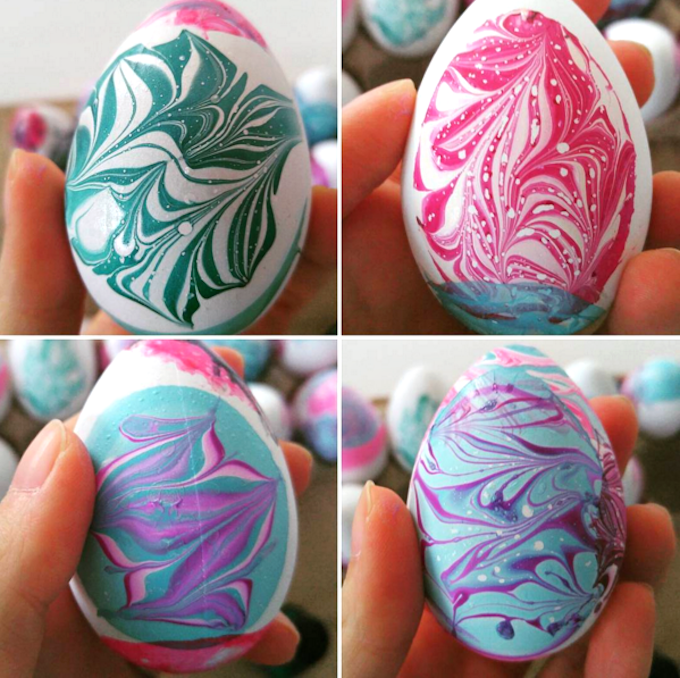 Best Easter Egg Decorating Ideas Water Marble Eggs | Crafty Morning