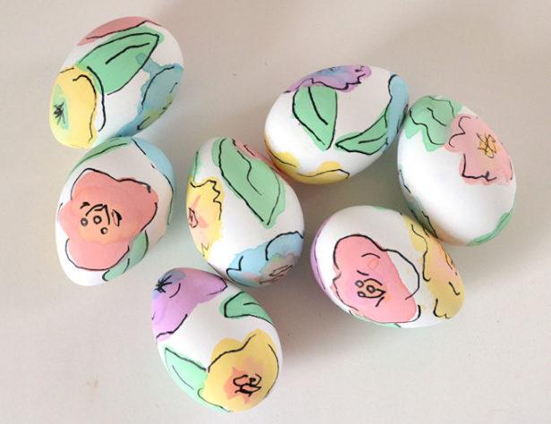 Best Easter Egg Decorating Ideas Watercolor | Dream A Little Bigger