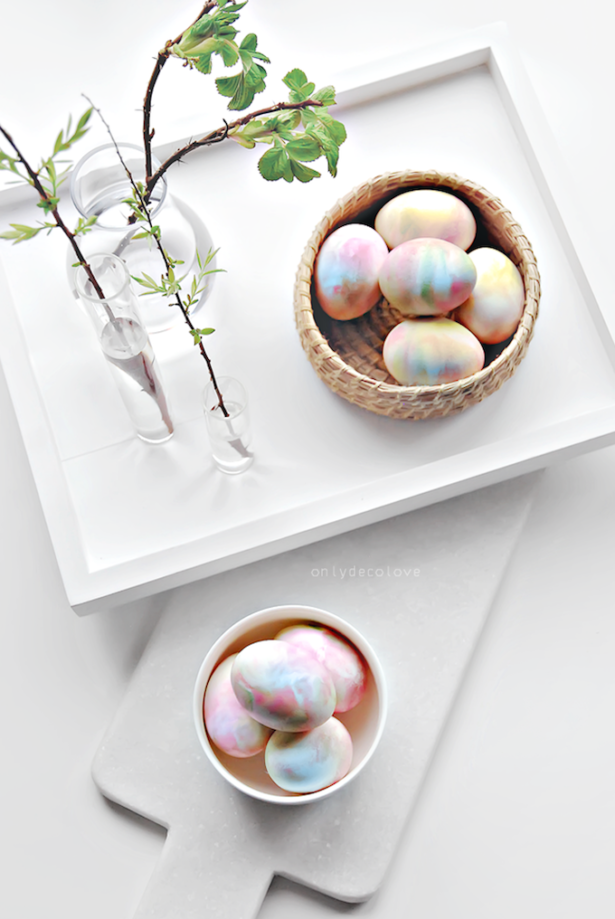 Best Easter Egg Decorating Ideas Whipped Cream Eggs | Only Deco Love