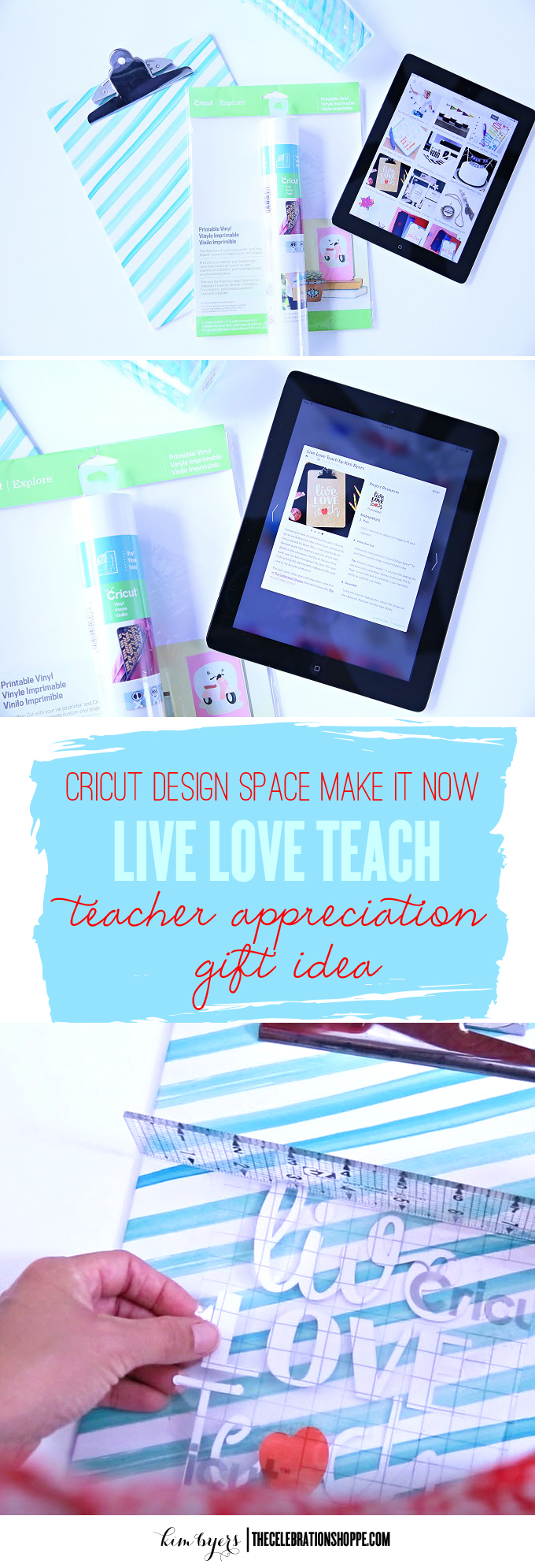 Teacher Appreciation Cricut Craft | Kim Byers