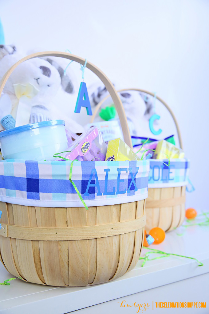 Personalize Easter Baskets WIth Cricut | Kim Byers
