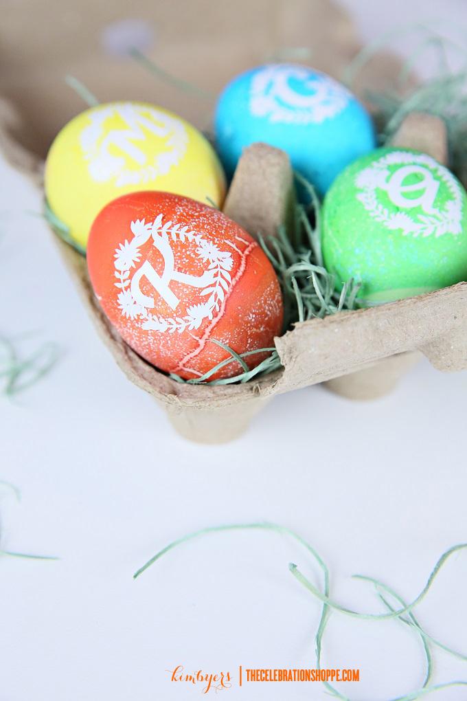 Monogram Easter Eggs | Kim Byers