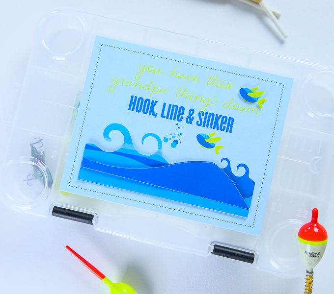 Download Easy And Neat Father S Day Card Tackle Box Label Gift Idea