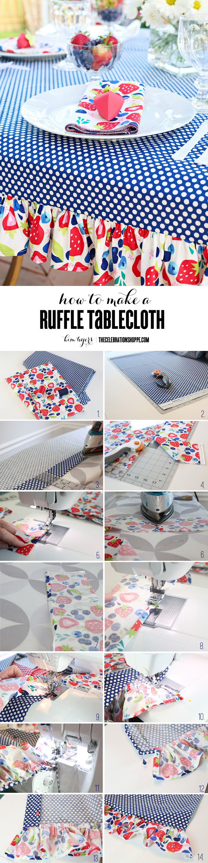 How To Sew A Ruffle Tablecloth | Kim Byers