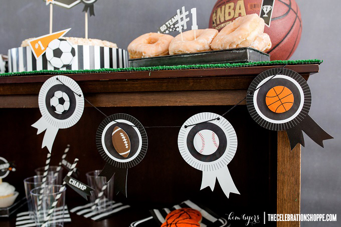 Sports Party Banner | Kim Byers