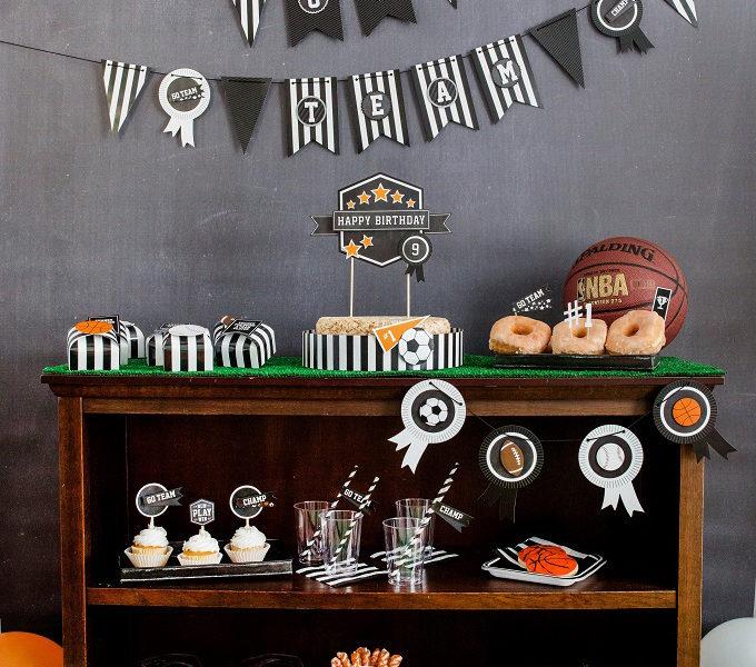 Sports party decorations kim byers wl