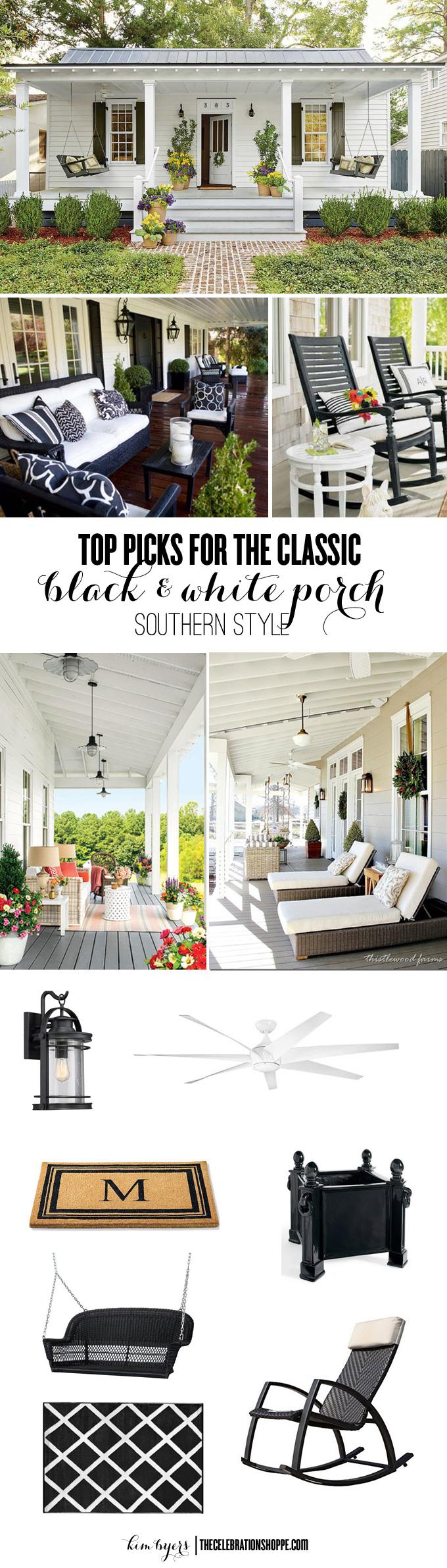 Black White Porch Picks For A Southern Home | Kim Byers