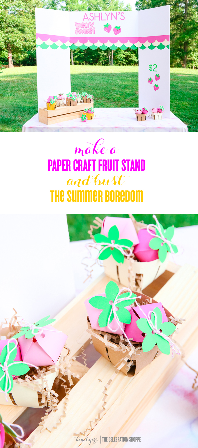Paper craft fruit stand kim byers