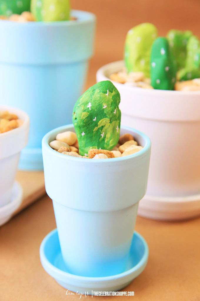 Painted Rock Cactus Craft   Kim Byers