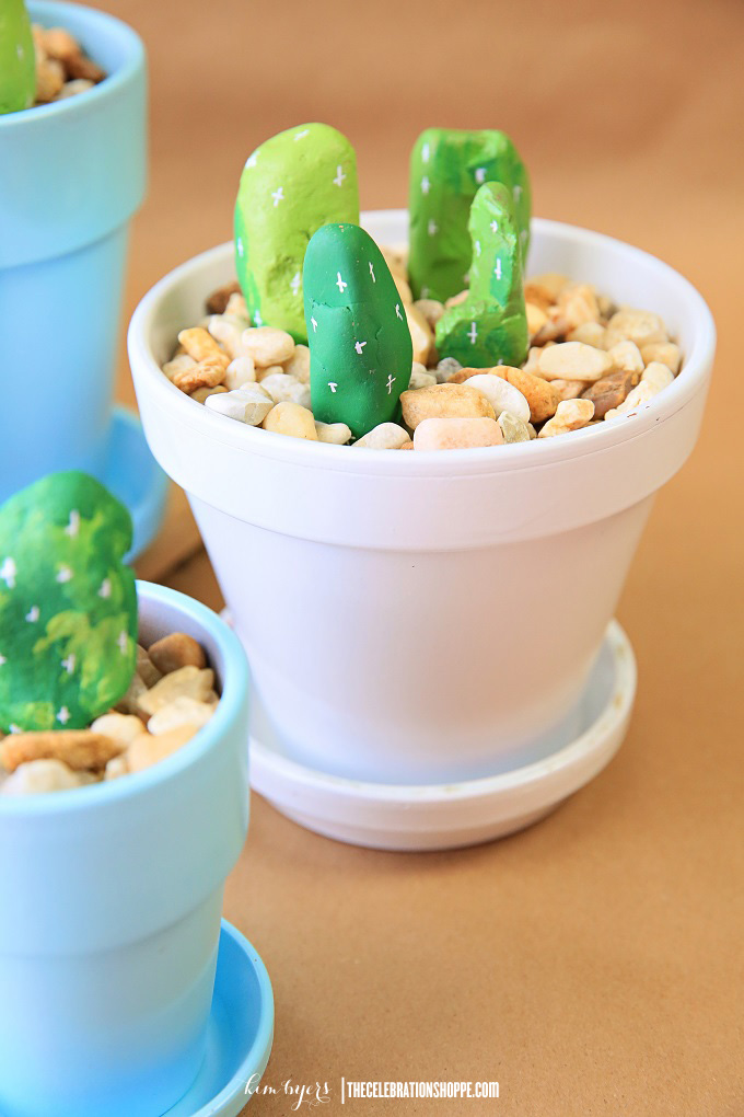 Cactus Craft With Painted Rocks   Kim Byers