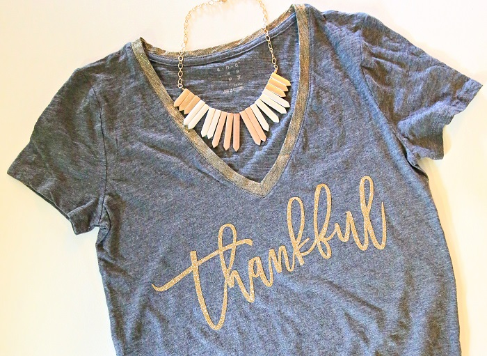 DIY Thankful Tee For Thanksgiving | Kim Byers