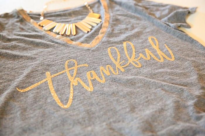 Cricut Thankful TShirt | Kim Byers