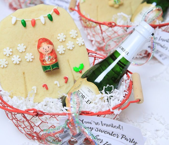 1 ugly sweater cookie invitations kim byers