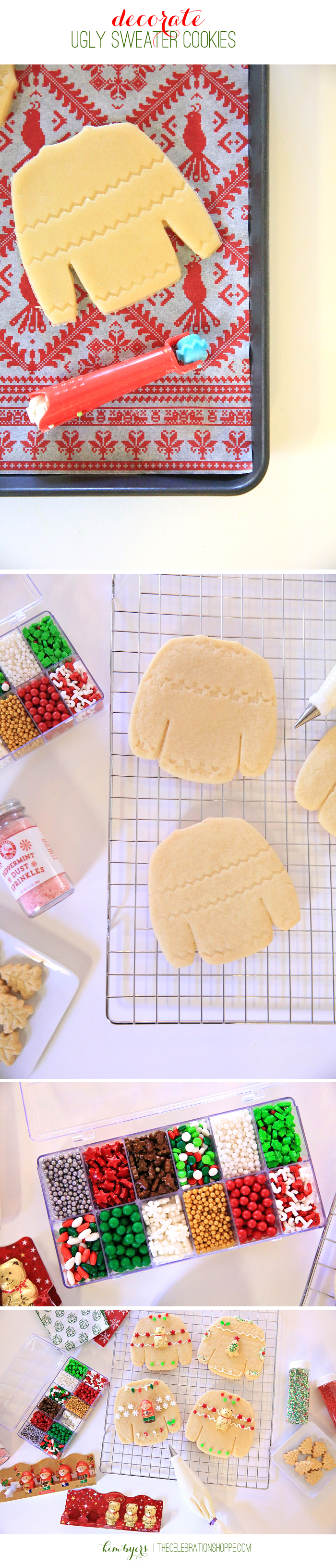 Decorate Ugly Sweater Cookies | Kim Byers