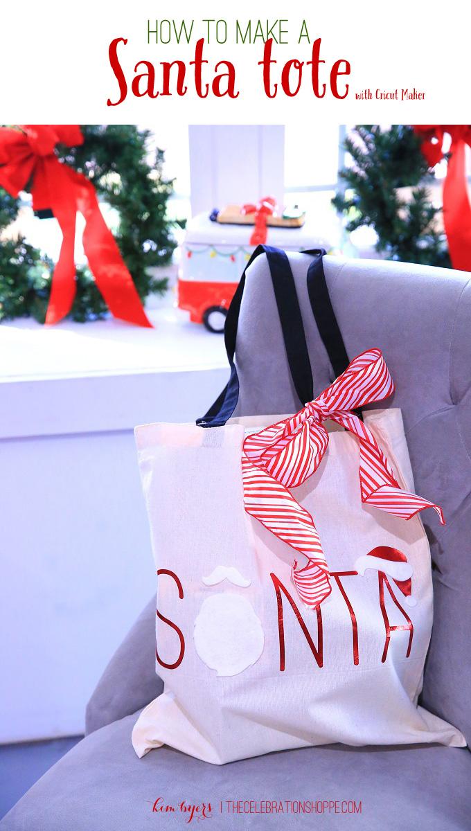 Cricut santa bag kim byers