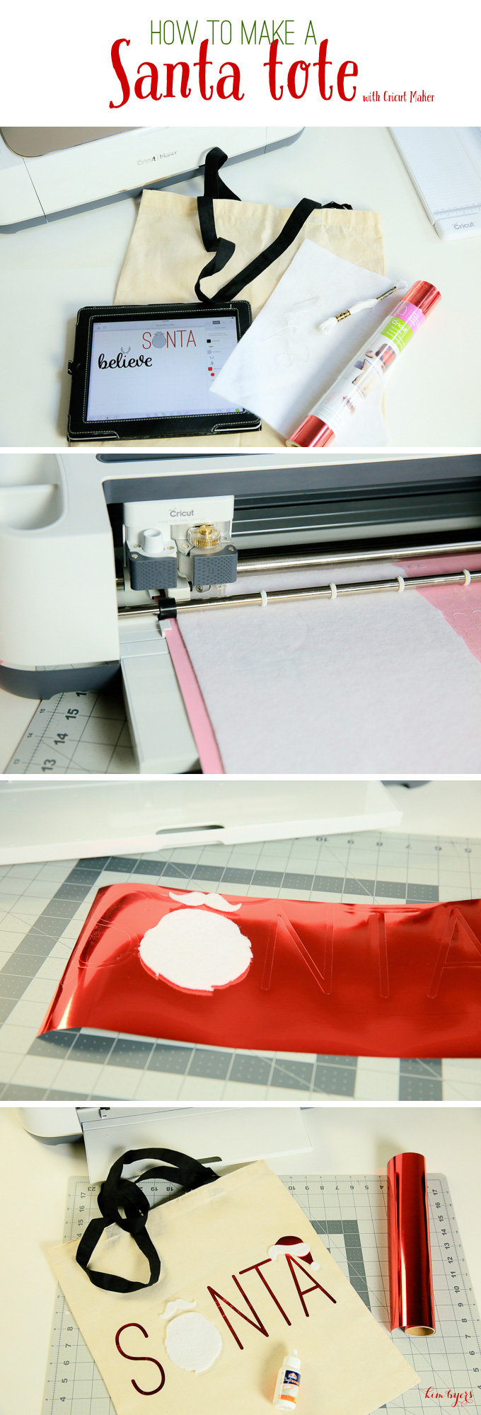 Make A Santa Bag WIth Cricut Maker   Kim Byers