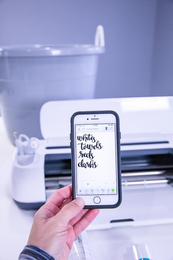 Cricut Laundry Labels | Kim Byers