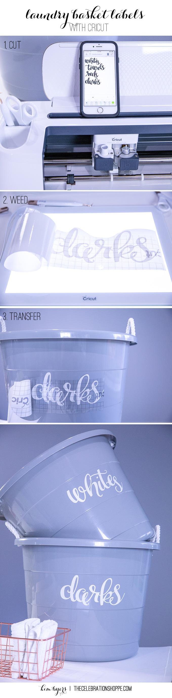 Make Laundry Basket Labels With Cricut | Kim Byers