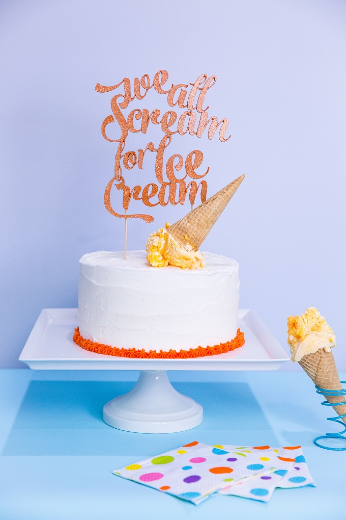 Ice Cream Cake Topper | Kim Byers