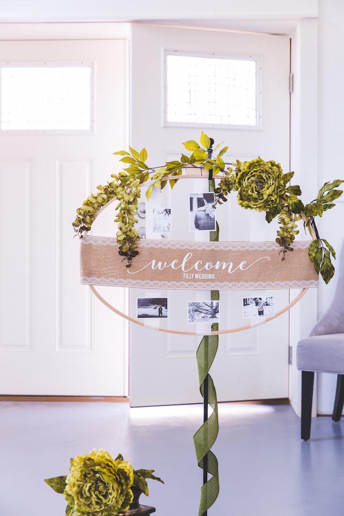Cricut Wedding Sign With Photos