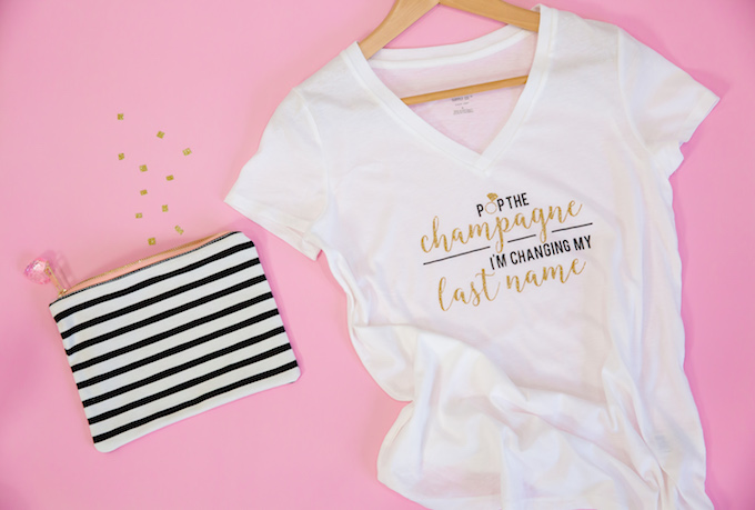 Bride T-shirt | Pop The Champagne