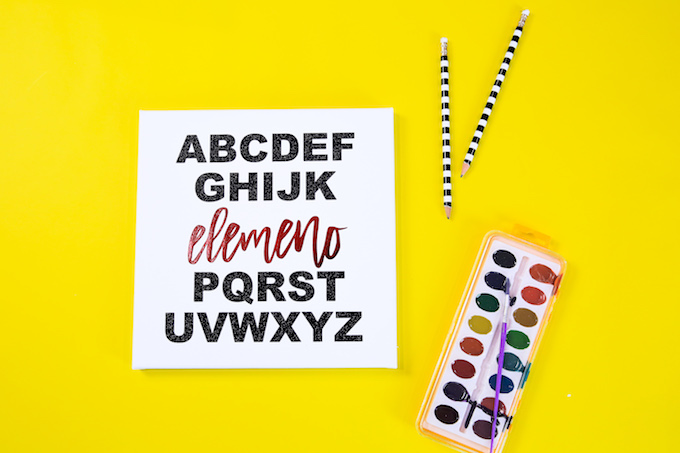 Back To School ABC Song Canvas