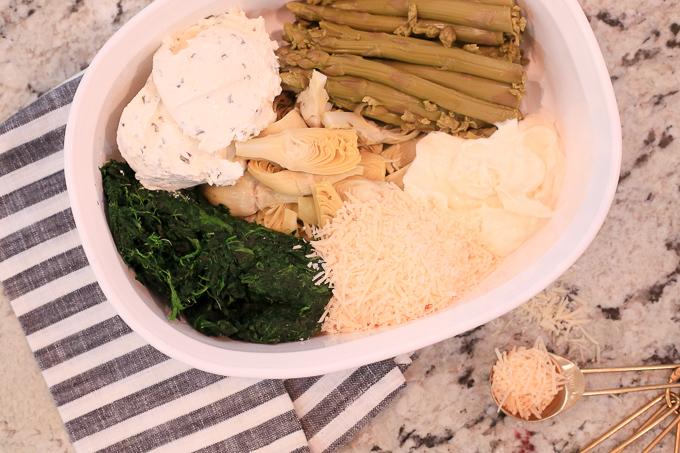 Hot Three-Veggie Dip Ingredients