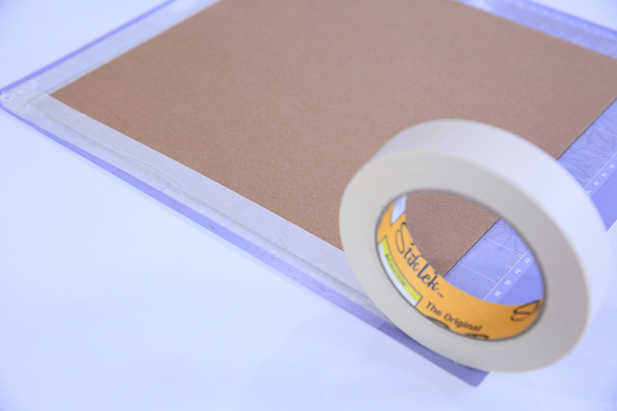Use Strong Grip Mat & Masking Tape For Chipboard Projects