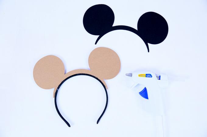 Minnie Mouse Ears - Glue Felt To Chipboard