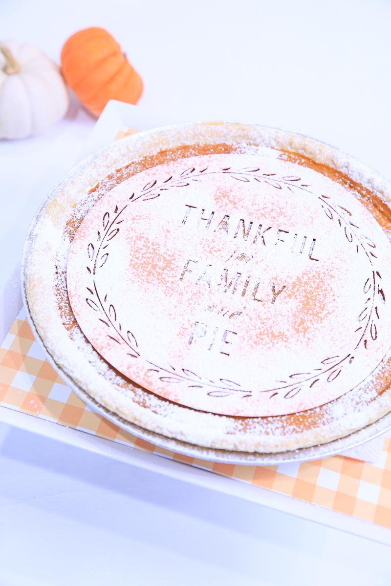 Thanksgiving Pumpkin Pie Stencil | Kim Byers