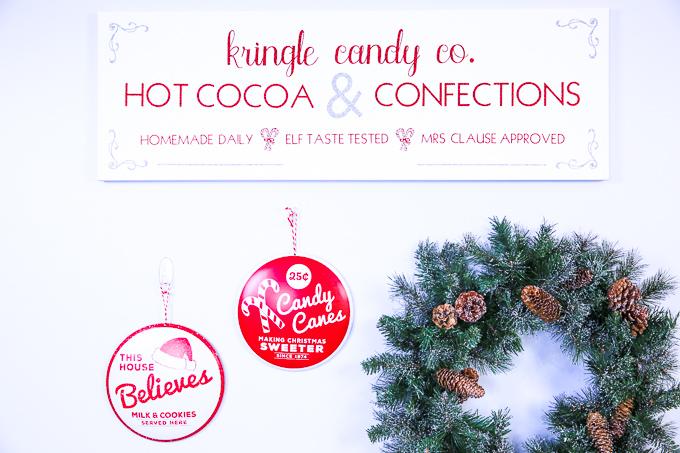 Kringle Candy Co. Farmhouse Christmas Sign