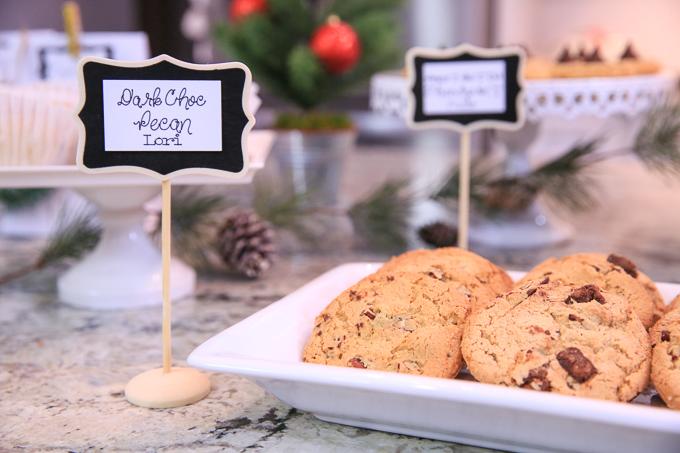 Dark Chocolate Chip Pecan Cookies
