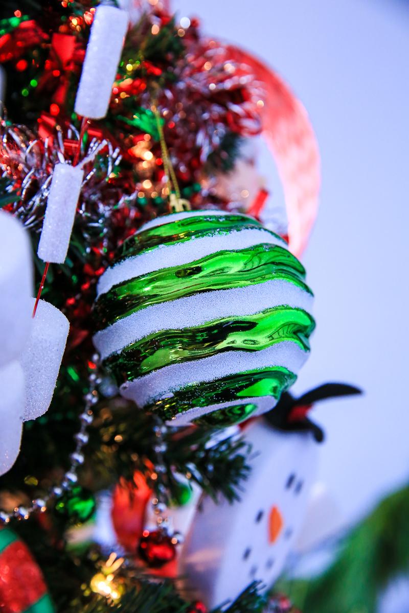 4 glitter christmas stripe ornament kim byers 184 2