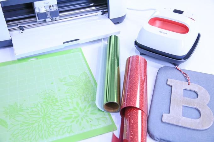 Cricut Supplies For Iron-On Wooden Ornaments