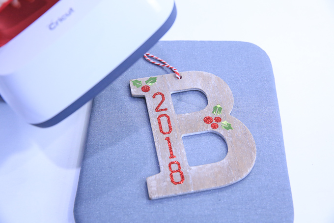 Personalized Wooden Ornament with Iron-On and Cricut