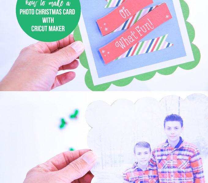 Cricut photo christmas card kim byers