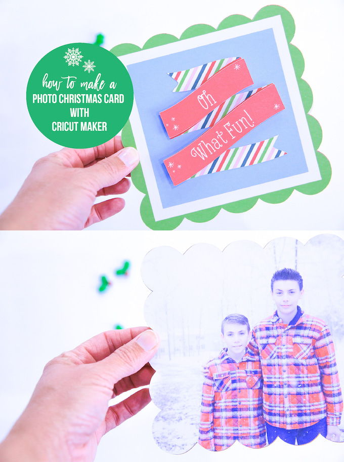 Cricut photo christmas card kim byers