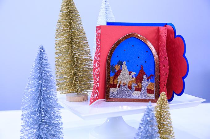 Religious Christmas Card | Kim Byers and Cricut Maker